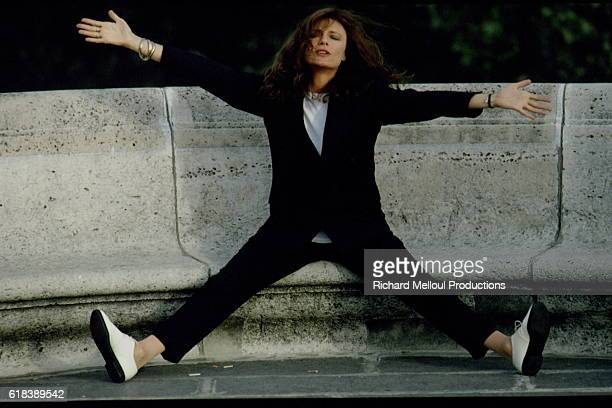 Actress Jacqueline Bisset with Arms Outstretched