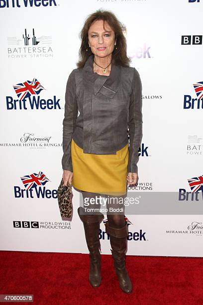 Actress Jacqueline Bissett attends the BritWeek 2015 9th annual Brit Week red carpet launch at British Consul Generals Residence on April 21 2015 in...