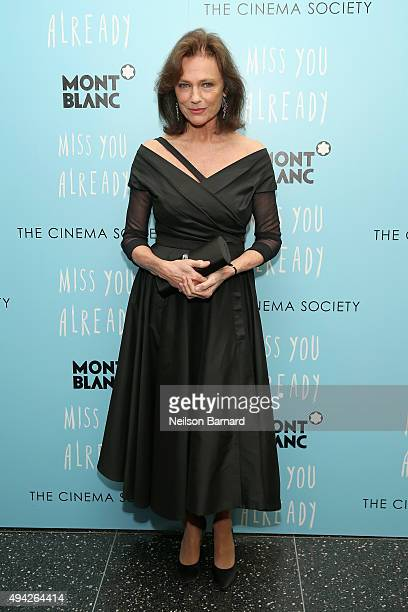 "Actress Jacqueline Bissett attends the Montblanc & The Cinema Society screening of Roadside Attractions & Lionsgate's ""Miss You Already"" at Museum of..."