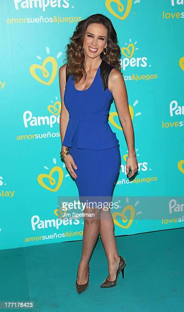 Actress Jacqueline Bracamontes attends the Pampers Love Sleep Play campaign launch at Vanderbilt Hall at Grand Central Terminal on August 21 2013 in...