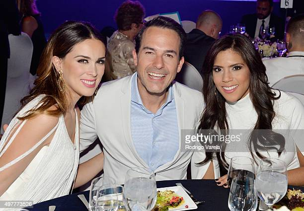 Actress Jacqueline Bracamontes TV personality Carlos Calderon and TV personality Francisca Lachapel attend the 2015 Latin GRAMMY Person of the Year...