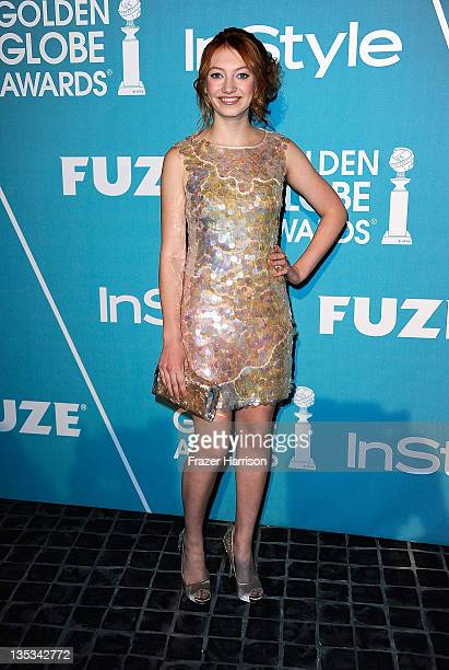 Actress Jacqueline Emerson arrives at The Hollywood Foreign Press Association and InStyle Presents A Night Of Firsts at Cecconi's Restaurant on...
