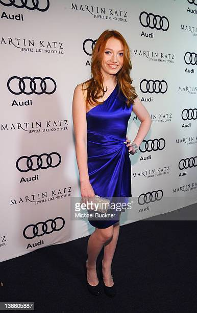 Actress Jacqueline Emerson arrives at the Kick Off for Golden Globes Week 2012 hosted by Audi and Martin Katz at Cecconi's Restaurant on January 8...