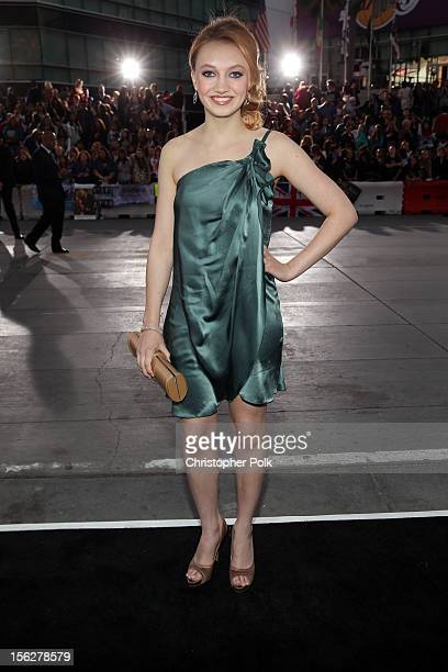 Actress Jacqueline Emerson arrives at the premiere of Summit Entertainment's The Twilight Saga Breaking Dawn Part 2 at Nokia Theatre LA Live on...