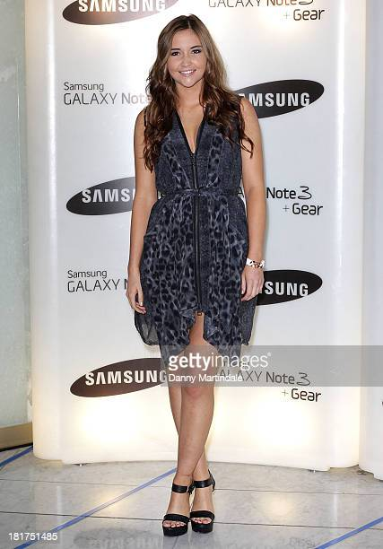 Actress Jacqueline Jossa attends the launch of Samsung's Galaxy Gear and Galaxy Note 3 at ME Hotel on September 24 2013 in London England