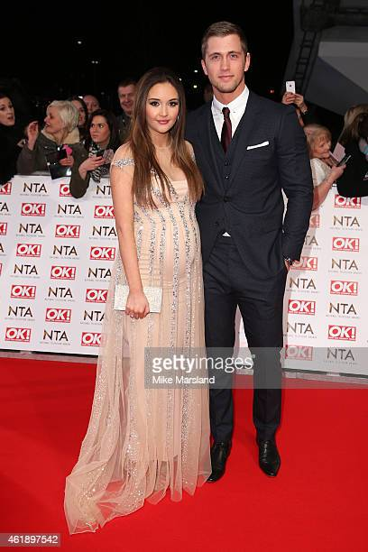 Actress Jacqueline Jossa of 'EastEnders' and Dan Osborne of 'The Only Way is Essex' attend the National Television Awards at 02 Arena on January 21...