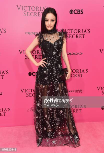 Actress Jacqueline Li attends the 2017 Victoria's Secret Fashion Show In Shanghai Pink Carpet Arrivals at MercedesBenz Arena on November 20 2017 in...