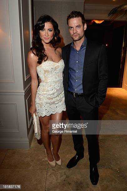 Actress Jacqueline MacInnes Wood and actor Shane West attend the InStyle and Hollywood Foreign Press Association's Toronto International Film...