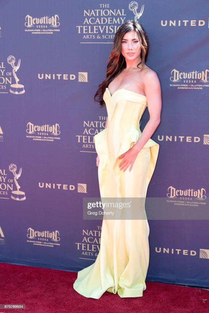Actress Jacqueline MacInnes Wood arrives at the 44th Annual Daytime Emmy Awards at Pasadena Civic Auditorium on April 30, 2017 in Pasadena, California.