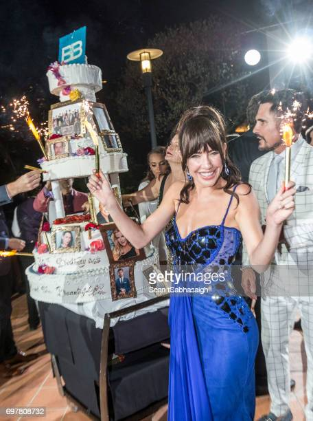 Actress Jacqueline MacInnes Wood attends the 'The Bold and The Beautiful' 30th Anniversary Party during the 57th Monte Carlo TV Festival Day 3 on...