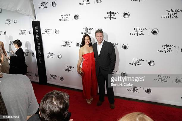 Actress Jacqueline Mazarella and guest attend the world premiere of Live From New York held at The Beacon Theatre on April 15 2015 in New York City