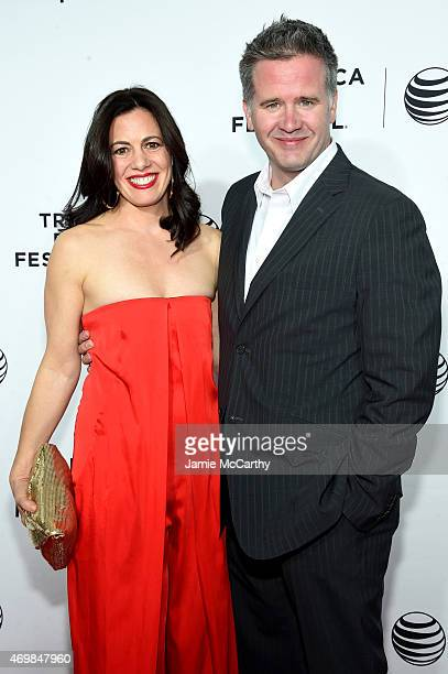 """Actress Jacqueline Mazarella and producer Owen attend the Opening Night premiere of """"Live From New York!"""" during the 2015 Tribeca Film Festival at..."""