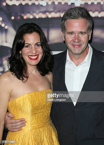 """Actress Jacqueline Mazarella and producer Owen Moogan attend the premiere of Abramorama's """"Live from New York!"""" at the Landmark Theatre on June 10,..."""