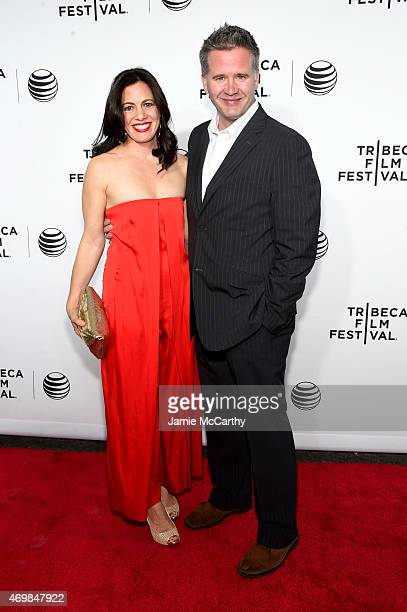 """Actress Jacqueline Mazarella and producer Owen Moogan the Opening Night premiere of """"Live From New York!"""" during the 2015 Tribeca Film Festival at..."""