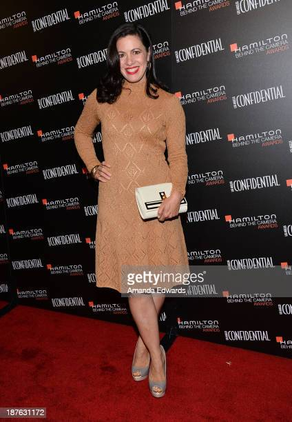Actress Jacqueline Mazarella arrives at the 7th Annual Hamilton Behind The Camera Awards at The Wilshire Ebell Theatre on November 10 2013 in Los...