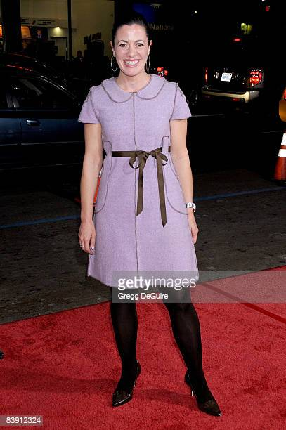 Actress Jacqueline Mazarella arrives at the Los Angeles premiere Nothing Like The Holidays at the Grauman's Chinese Theater on December 3 2008 in...