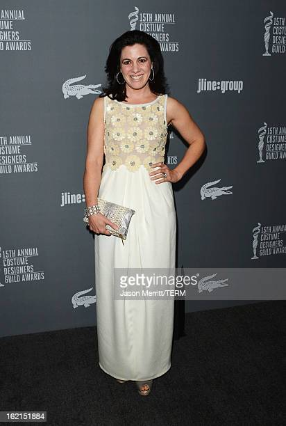 Actress Jacqueline Mazarella attends the 15th Annual Costume Designers Guild Awards with presenting sponsor Lacoste at The Beverly Hilton Hotel on...