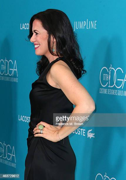 Actress Jacqueline Mazarella attends the 17th Costume Designers Guild Awards with presenting sponsor Lacoste at The Beverly Hilton Hotel on February...