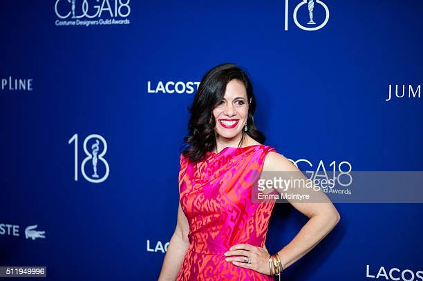 Actress Jacqueline Mazarella attends the 18th Costume Designers Guild Awards with Presenting Sponsor LACOSTE at The Beverly Hilton Hotel on February...
