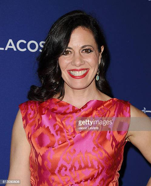 Actress Jacqueline Mazarella attends the 18th Costume Designers Guild Awards at The Beverly Hilton Hotel on February 23 2016 in Beverly Hills...