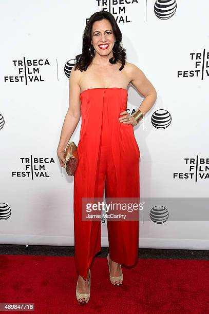 """Actress Jacqueline Mazarella attends the Opening Night premiere of """"Live From New York!"""" during the 2015 Tribeca Film Festival at the Beacon Theatre..."""