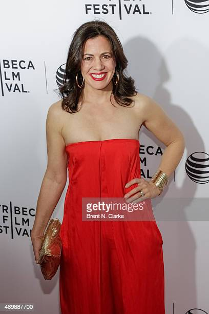 Actress Jacqueline Mazarella attends the world premiere of Live From New York held at The Beacon Theatre on April 15 2015 in New York City