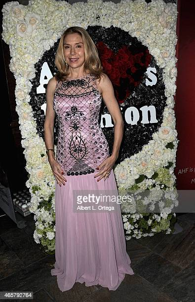 Actress Jacqueline Murphy attends the Art Hearts Fashion Opening Night with Sue Wong's Runway Fashion Show Mythos And Goddesses held at Taglyan...