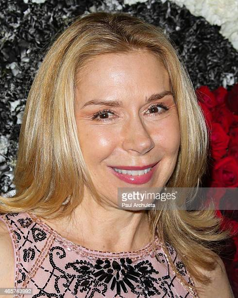 Actress Jacqueline Murphy attends the Sue Wong runway fashion show Mythos And Goddesses at the Taglyan Cultural Complex on March 9 2015 in Hollywood...