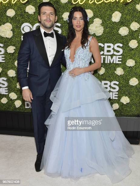 Actress Jacqueline Wood and Elan Ruspoli attend the CBS Daytime Emmy After Party at Pasadena Convention Center on April 29 2018 in Pasadena California