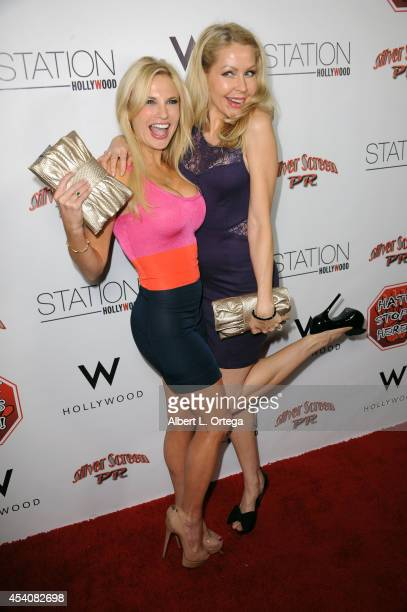 Actress Jacqui Holland and actress Madeleine Wade arrive at W Hotel Station Club's Annual Emmy Party held at W Hollywood on August 23 2014 in...