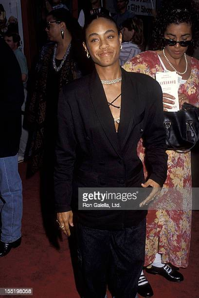 Actress Jada Pinkett attends the Boomerang Hollywood Premiere on June 28 1992 at Mann's Chinese Theatre in Hollywood California