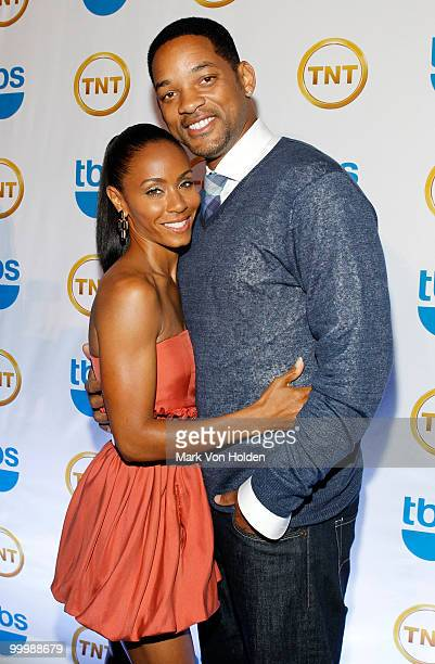 Actress Jada Pinkett Smith and Actor Will Smith attend the TEN Upfront presentation at Hammerstein Ballroom on May 19 2010 in New York City...