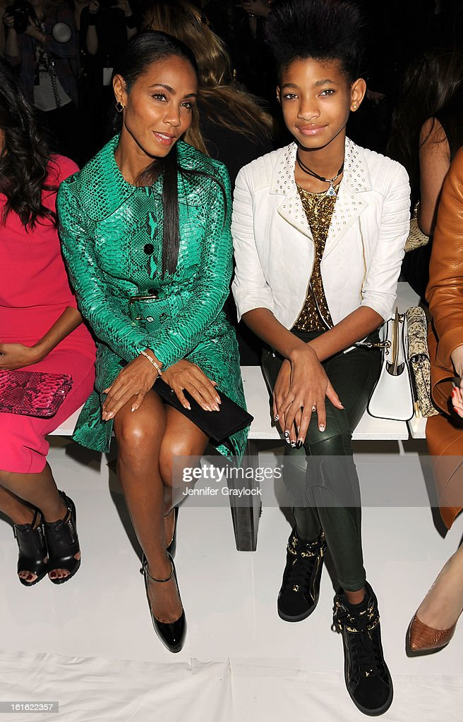 Actress Jada Pinkett Smith and daughter Willow Smith front row during the Michael Kors Fall 2013 Mercedes-Benz Fashion Show at The Theater at Lincoln Center on February 13, 2013 in New York City.