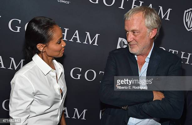 Actress Jada Pinkett Smith and executive producer Bruno Heller attend Fox's 'Gotham' Season Finale Screening at Landmark Theatre on April 28 2015 in...