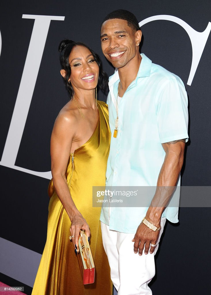 Actress Jada Pinkett Smith and her brother Caleeb Pinkett attend the premiere of 'Girls Trip' at Regal LA Live Stadium 14 on July 13, 2017 in Los Angeles, California.
