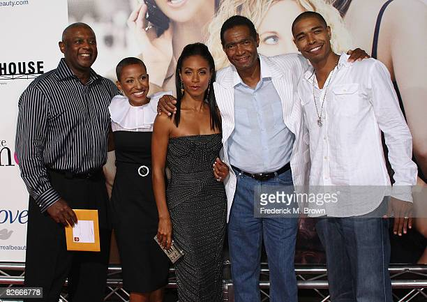 Actress Jada Pinkett Smith and her family attend 'The Women' film premiere at the Mann Village Theatre on September 4 2008 in Westwood California