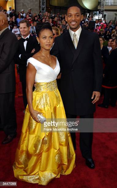 Actress Jada Pinkett Smith and her husband Will Smith arrive for the 74th Annual Academy Awards held at the Kodak Theatre in Hollywood Ca March 24...
