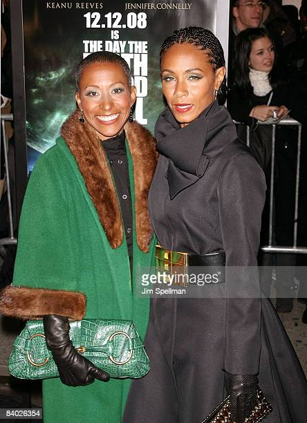 Actress Jada Pinkett Smith and her mother Adrienne Banfield attend the premiere of 'The Day the Earth Stood Still' at the AMC Loews Lincoln Square on...