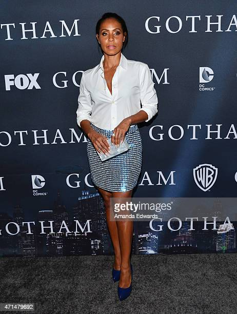 Actress Jada Pinkett Smith arrives at Fox's 'Gotham' finale screening event at the Landmark Theatre on April 28 2015 in Los Angeles California
