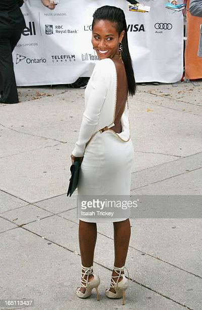 Actress Jada Pinkett Smith arrives at 'Free Angela All Political Prisoners' premiere during the 2012 Toronto International Film Festival held at Roy...