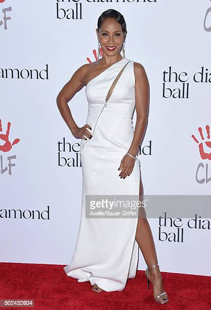 Actress Jada Pinkett Smith arrives at Rihanna and The Clara Lionel Foundation Host 2nd Annual Diamond Ball at The Barker Hanger on December 10 2015...