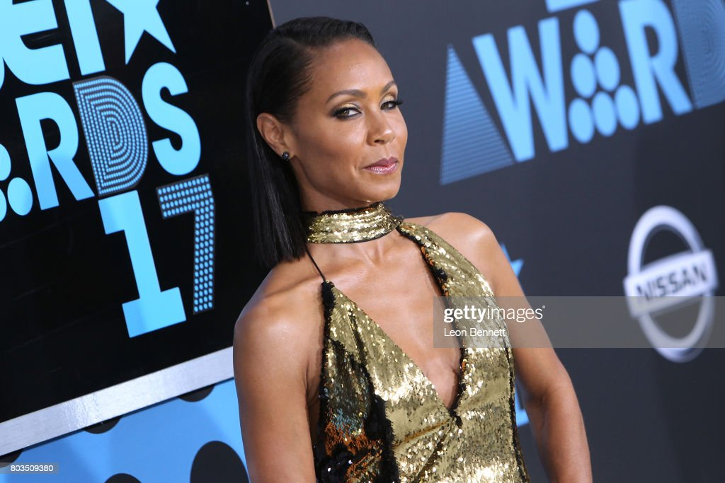 Actress Jada Pinkett Smith arrives at the 2017 BET Awards at Microsoft Theater on June 25, 2017 in Los Angeles, California.