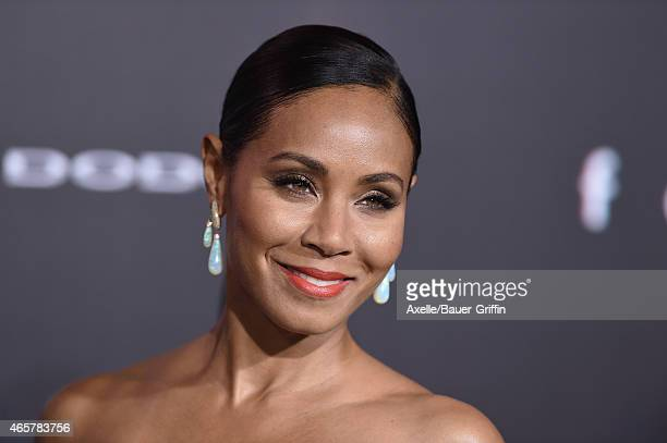 Actress Jada Pinkett Smith arrives at the Los Angeles World Premiere of Warner Bros Pictures 'Focus' at TCL Chinese Theatre on February 24 2015 in...
