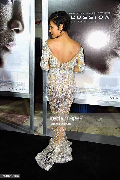 Actress Jada Pinkett Smith arrives at the Screening Of Columbia Pictures' Concussion at Regency Village Theatre on November 23 2015 in Westwood...