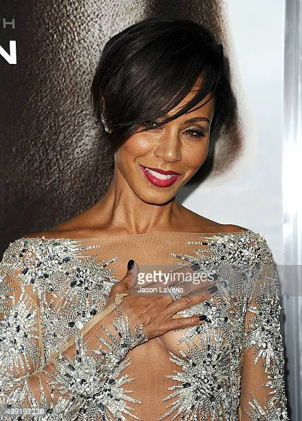 Actress Jada Pinkett Smith attends a screening of 'Concussion' at Regency Village Theatre on November 23 2015 in Westwood California