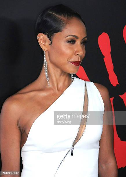 Actress Jada Pinkett Smith attends the 2nd Annual Diamond Ball hosted By Rihanna and The Clara Lionel Foundation at The Barker Hanger on December 10,...