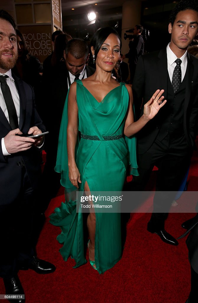 Actress Jada Pinkett Smith attends the 73rd Annual Golden Globe Awards at The Beverly Hilton Hotel on January 10, 2016 in Beverly Hills, California.