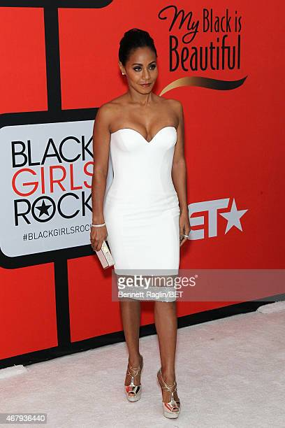 Actress Jada Pinkett Smith attends the BET's Black Girls Rock Red Carpet sponsored by Chevrolet at NJPAC – Prudential Hall on March 28 2015 in Newark...