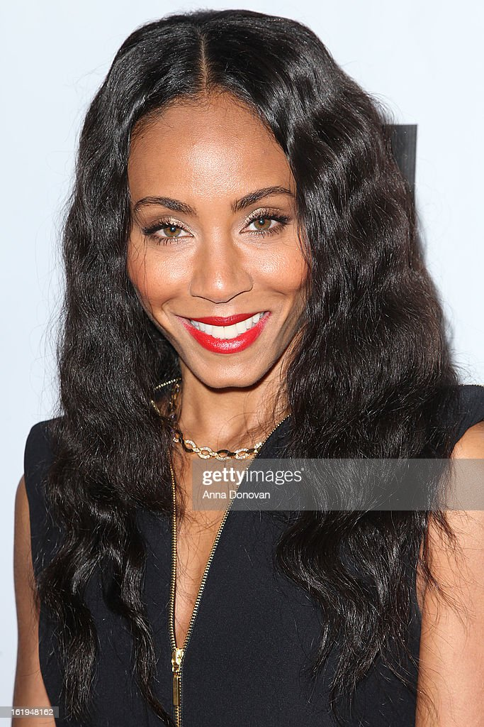 Actress Jada Pinkett Smith attends the closing night at the Pan African film festival 'Free Angela And All Political Prisoners' at Rave Cinemas on February 17, 2013 in Los Angeles, California.