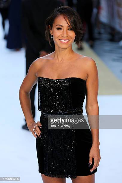 Actress Jada Pinkett Smith attends the European Premiere of 'Magic Mike XXL' at Vue West End on June 30 2015 in London England